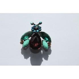 Mosca cristales multicolor. 3,5 cm